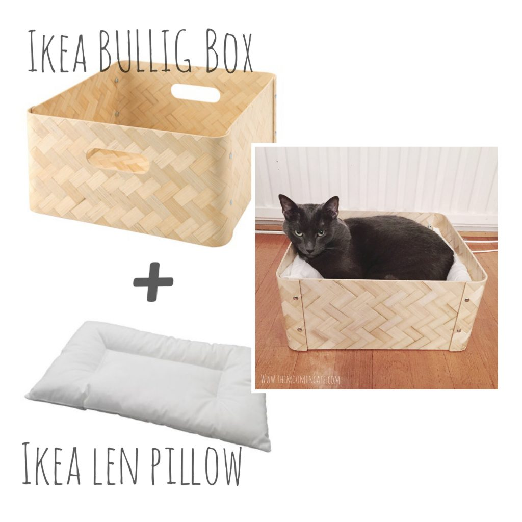 The Moomincats Blog – Simple DIY cat bed from IKEA
