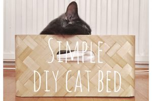 Simple DIY cat bed from IKEA
